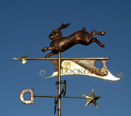 Leaping Rabbit Weathervane with Partial Gilding