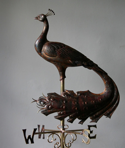 peacock weathervane