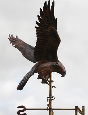 Harrier Hawk Weathervane